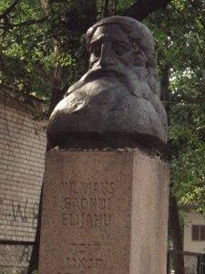 monument au gaon de vilnius