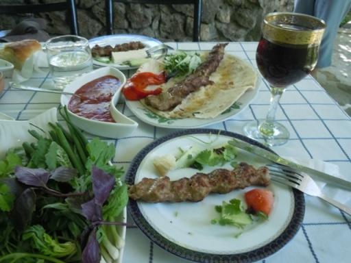Kebab et herbes