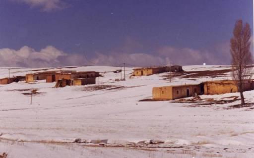 Neige sur les villages du Moyen Atlas
