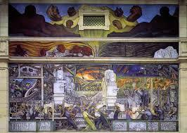 Fresque de Detroit détail de machine