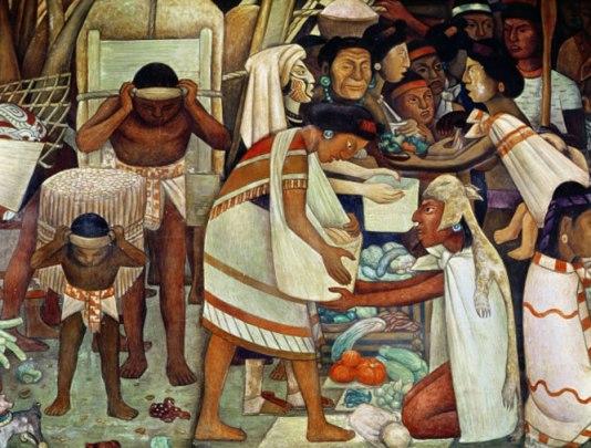Diego muraliste : indiens
