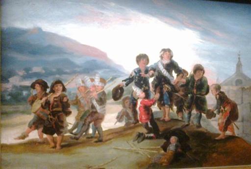 Enfants jouant aux soldats