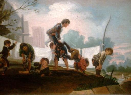 Enfants jouant à saute-mouton