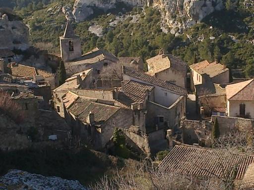 le village des Baux vu du château
