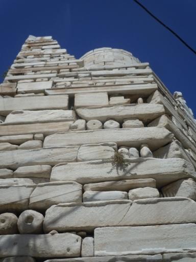 le kastro : les Vénitiens n'ont pas hésité à tronçonner les colonnes