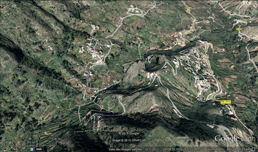 Google earth nous donne une vue du relief!