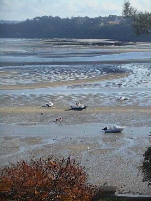 Grande marées sur la plage de Locquirec