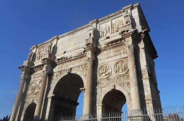 Rome : Arc de triomphe d'Hadrien