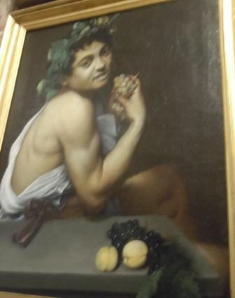 Caravage autoportrait à la Galerie Brghèse