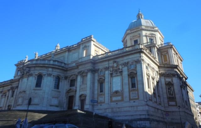 Sainte Marie Maggiore vue de la place de l'Esquilin