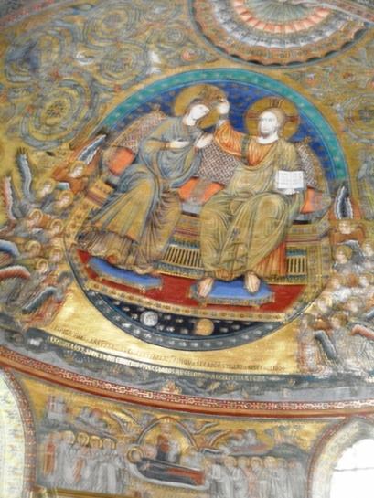 Mosaïques dorées de l'absides