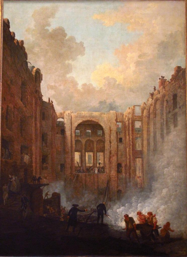 l'incendie de l'opéra (chercher les pompiers avec leurs lances)