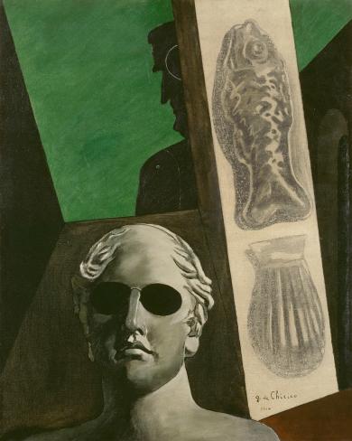 De Chirico : Portrait prémonitoire; Affiche de l'exposition