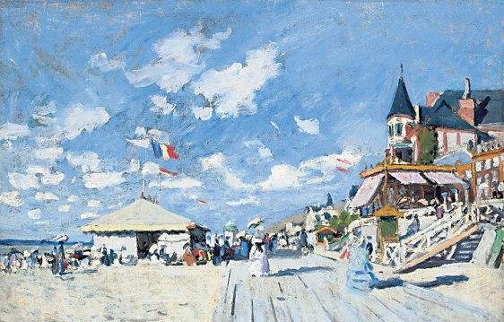 Claude Monet sur les planches de Trouville
