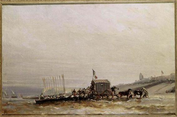 le débarquement de la Reine Victoria par Isabey