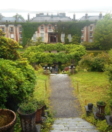 Bantry house vue du haut de l'escalier