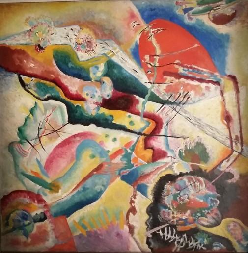 Kandinsky : bild mit rotem Fleck