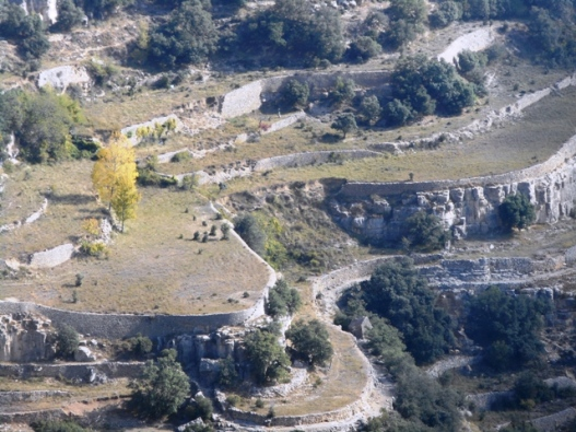 Ares del Maestrat ; terrasses