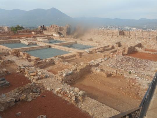 les ruines de l'Alcazaba