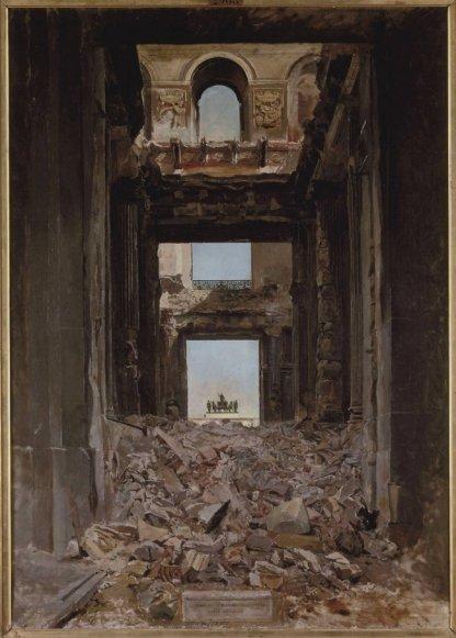 Meissonier : les ruines ddes Tuileries