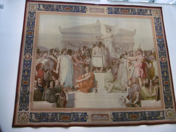 Homère, tapisserie des Gobelins, carton Ingres